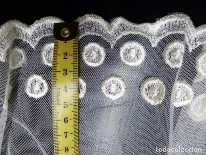 TUL BORDADO (Antigüedades - Moda - Bordados)