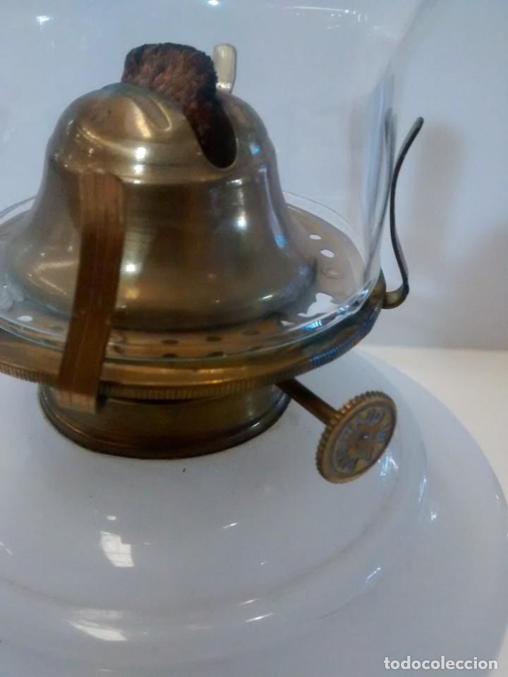 Antigüedades: QUINQUE OPALINA BLANCA - Foto 4 - 151144290