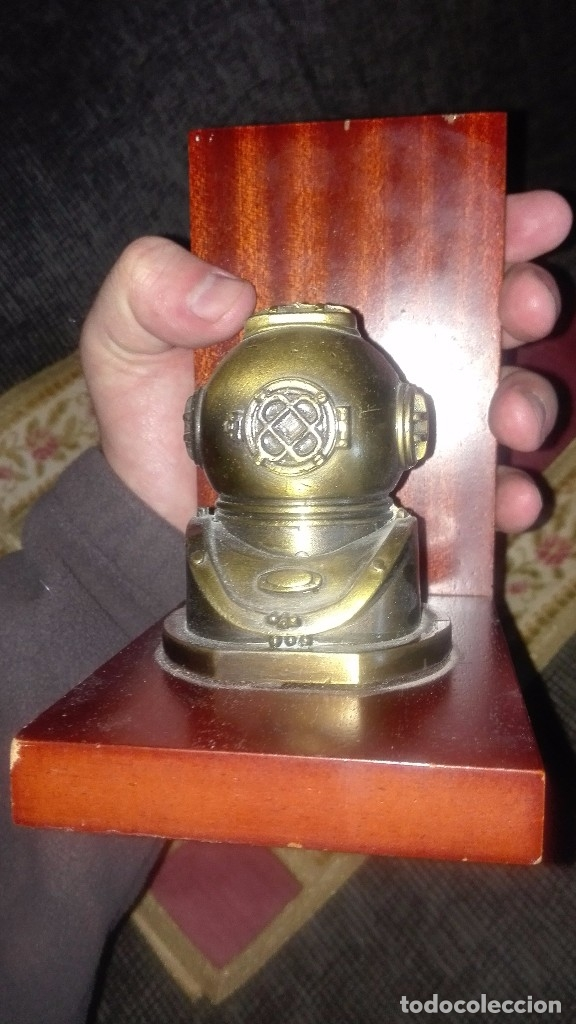 Antigüedades: Sujetalibros de bronce. - Foto 2 - 151119646