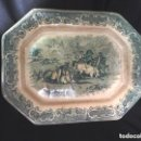 Antigüedades: GRAN FUENTE CARTAGENA COLOR VERDE, EXCELENTE CONSERVACIÓN. Lote 151193818