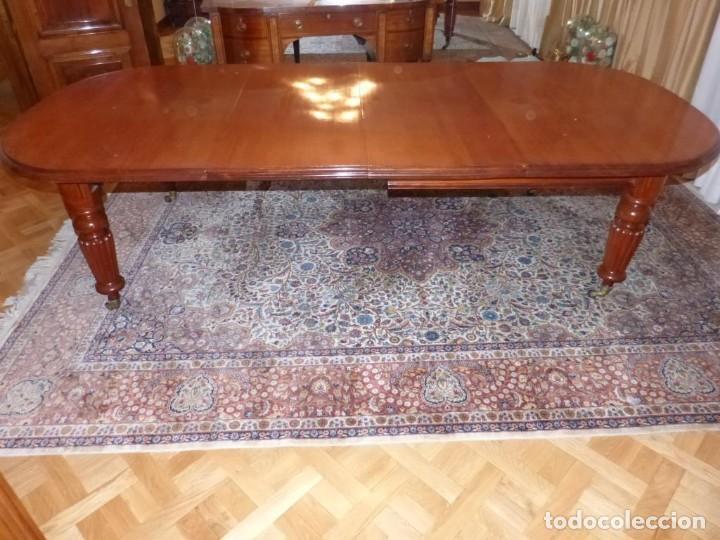 Antigüedades: Mesa Inglesa estilo victoriano de manivela - Foto 2 - 151228786