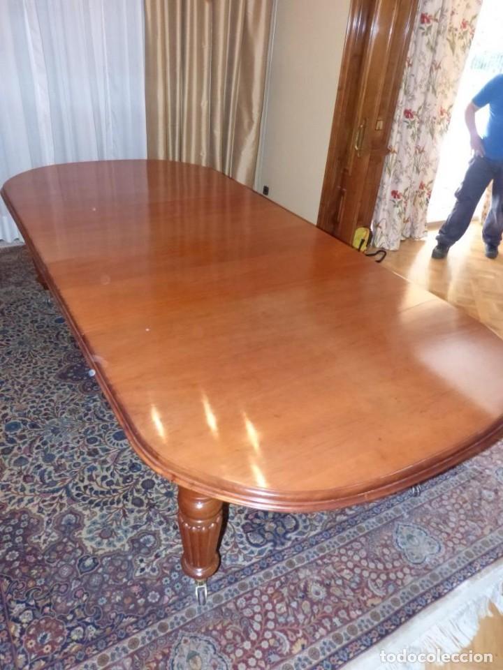 Antigüedades: Mesa Inglesa estilo victoriano de manivela - Foto 5 - 151228786