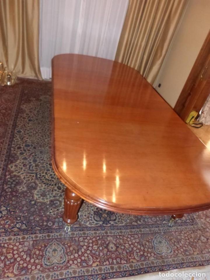 Antigüedades: Mesa Inglesa estilo victoriano de manivela - Foto 6 - 151228786