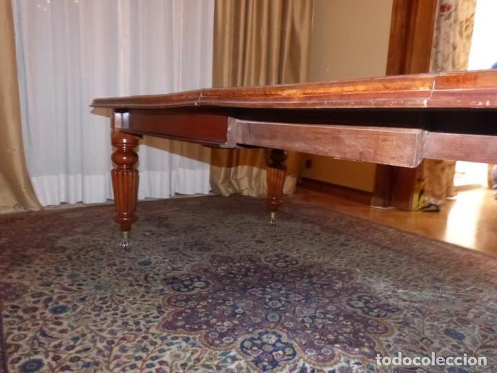 Antigüedades: Mesa Inglesa estilo victoriano de manivela - Foto 7 - 151228786
