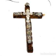 Antigüedades: ANTIGUO CRUCIFIJO XVIII, CRUCIFIJO JERUSALÉN, CRUZ JERUSALÉN, CRUCIFIJO NÁCAR, CRUCIFIJO MADREPERLA. Lote 151238290