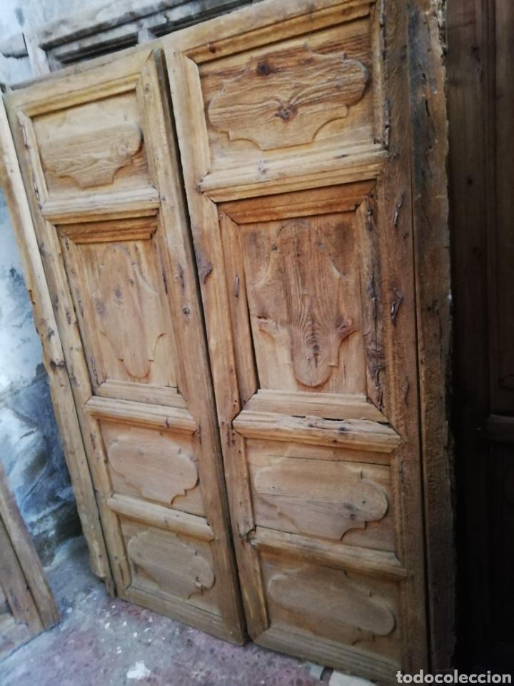 Antigüedades: 2 parejas de puertas antiguas - Foto 2 - 151240816
