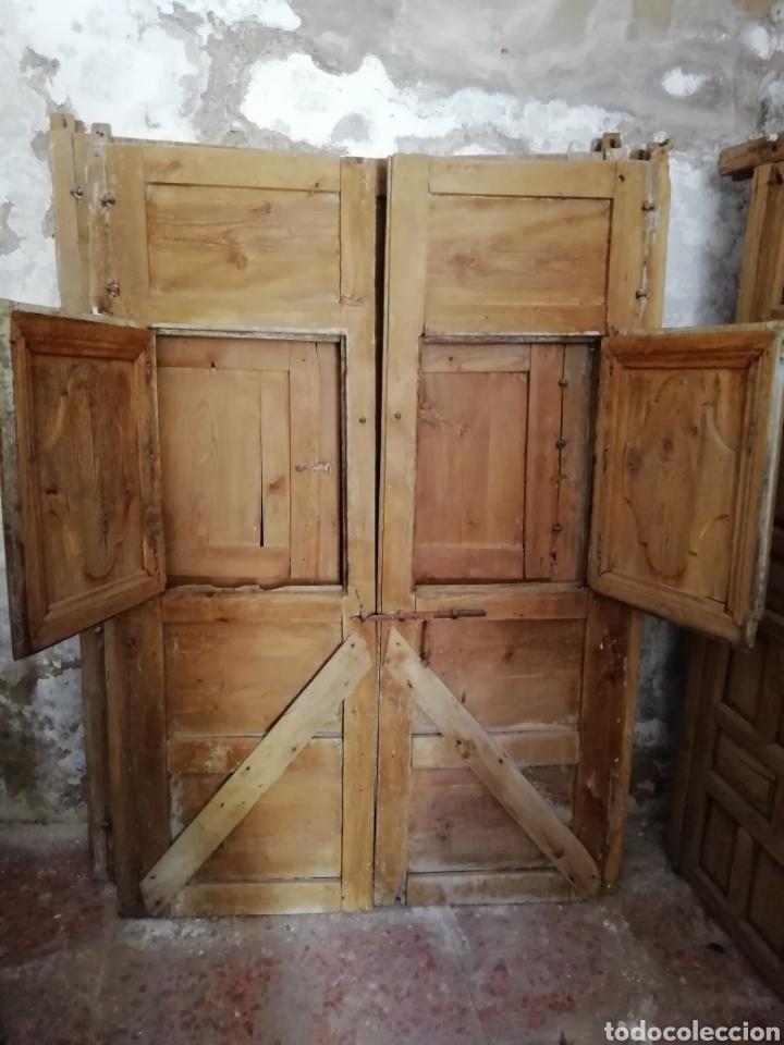 Antigüedades: 2 parejas de puertas antiguas - Foto 3 - 151240816