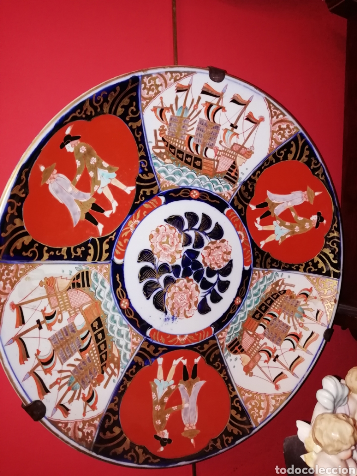 GRAN PLATO EN PORCELANA JAPONESA DE IMARI SIGLO XX (Antigüedades - Porcelana y Cerámica - Japón)