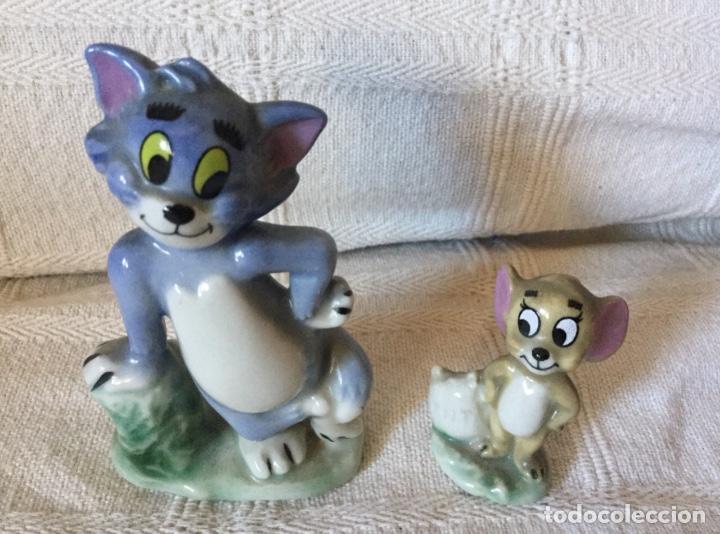 Antigüedades: Muñecos Tom y Jerry en Porcelana Inglesa. Producto Metro Golwind Mayer - Foto 2 - 151243578