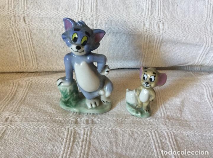 Antigüedades: Muñecos Tom y Jerry en Porcelana Inglesa. Producto Metro Golwind Mayer - Foto 3 - 151243578
