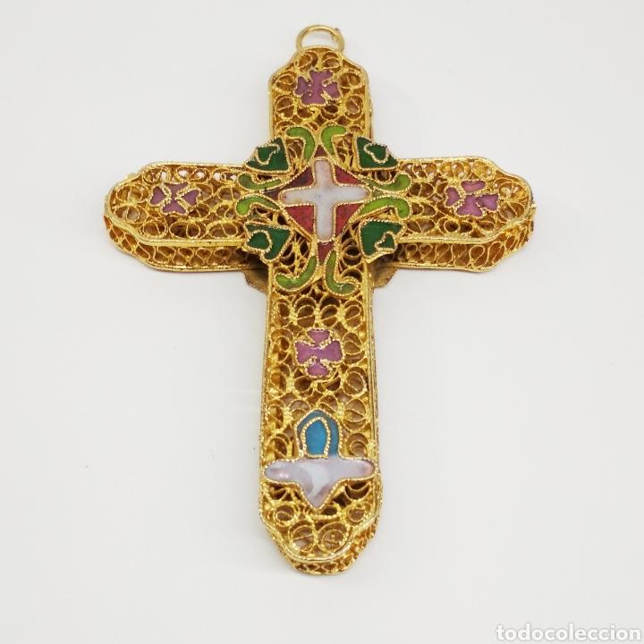 COLGANTE CRUZ FILIGRANA (Antigüedades - Religiosas - Cruces Antiguas)