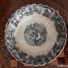 Antigüedades: FUENTE DE LOZA FÁBRICA LA AMISTAD, CARTAGENA. Lote 151269414