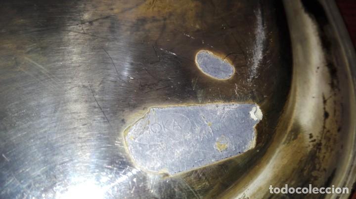 Antigüedades: bandeja bañada en plata con iniciales - Foto 3 - 151274626