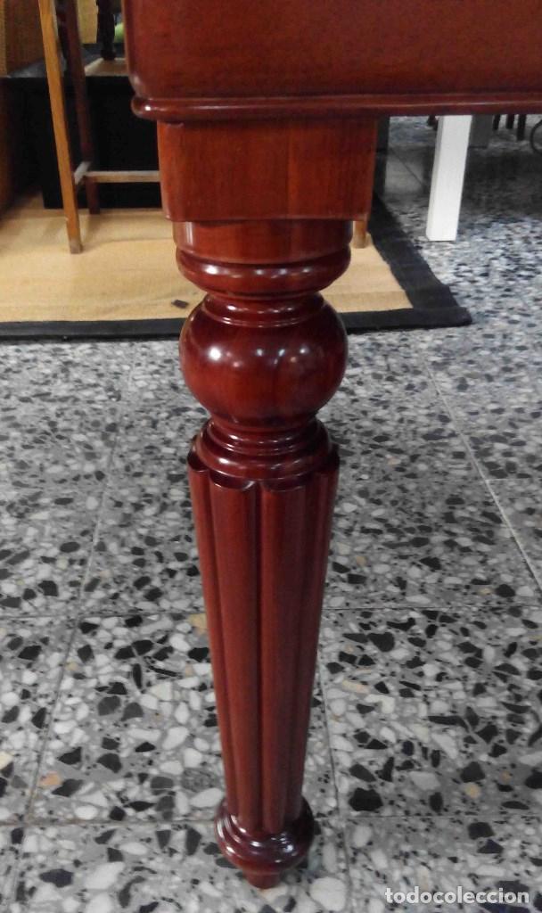Antigüedades: Mesa de comedor caoba extensible patas torneadas - Foto 3 - 151279142