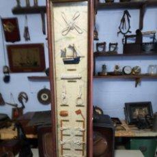 Antigüedades: ARMARIO DE NUDOS DE BARCO. Lote 151280918