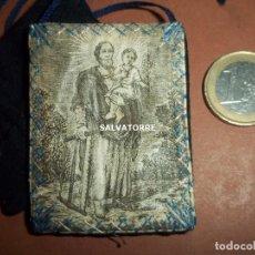 Antigüedades: ESCAPULARIO SAN JOSE Y NIÑO JESUS. 6 CM X 4´5 CM . Lote 151303010