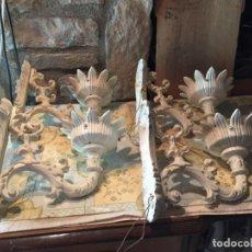 Antigüedades: ANTIGUOS 4 BRAZO / BRAZOS LÁMPARA PARA TULIPA DE CRISTAL DE LOS AÑOS 50 DE HIERRO COLADO. Lote 151332326