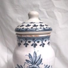 Antigüedades: ALBARELO BOTE FARMACIA BARCELONA AÑOS 70. MED. 32 CM ALT. Lote 151343482
