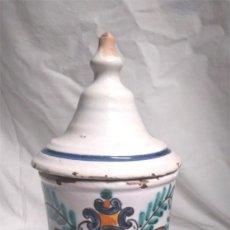 Antigüedades: ALBARELO BOTE FARMACIA Mª LLUISA BANYOLES AÑOS 70. MED. 31 CM ALT. Lote 151343582