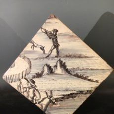Antigüedades: AZULEJO BARROCO SIGLO XVIII. Lote 151366046