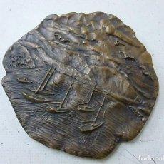 Antigüedades: ANTIGUA MEDALLA DE 11 CENTIMETROS Y 353 GRAMOS -N. Lote 151369774