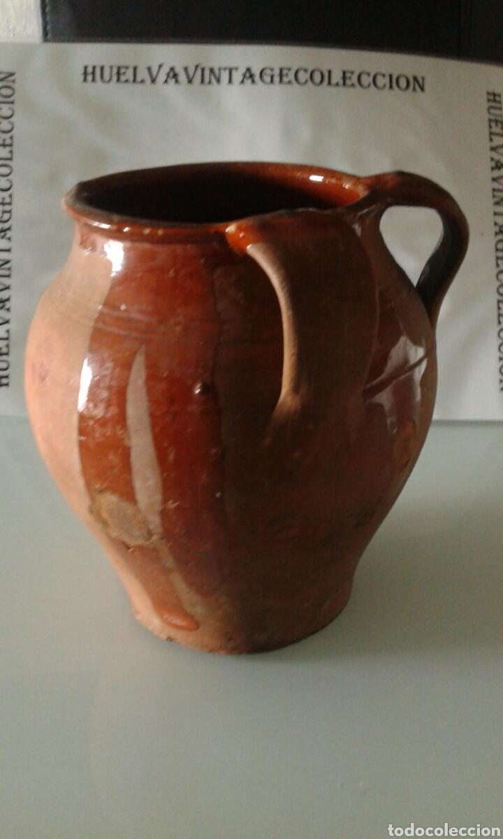 Antigüedades: Tinaja antigua de barro esmaltada, 21,5 cm . - Foto 2 - 151370860