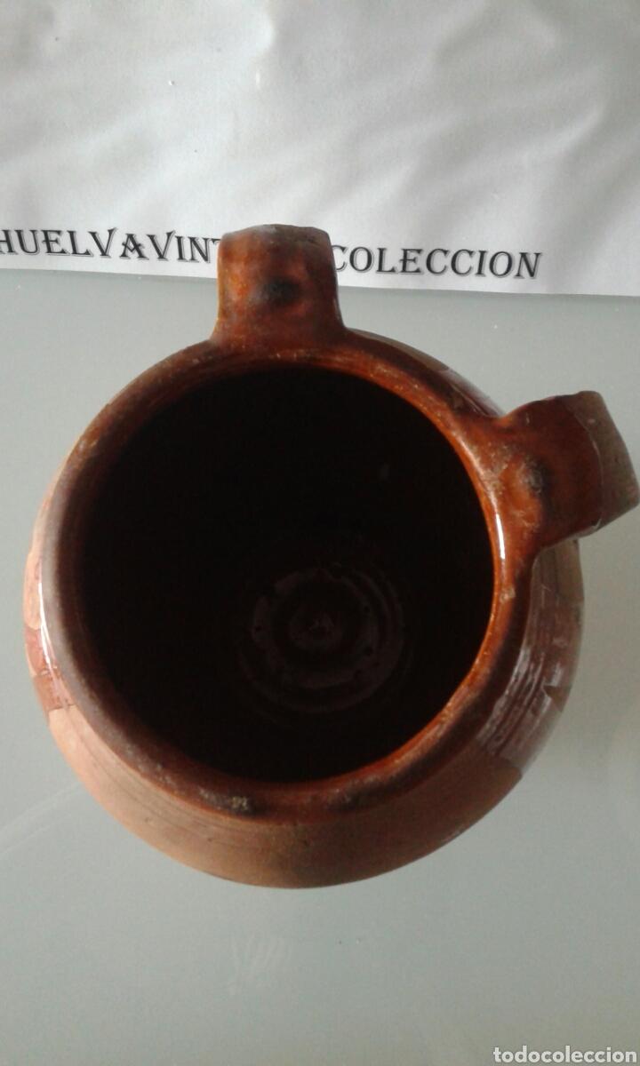Antigüedades: Tinaja antigua de barro esmaltada, 21,5 cm . - Foto 6 - 151370860