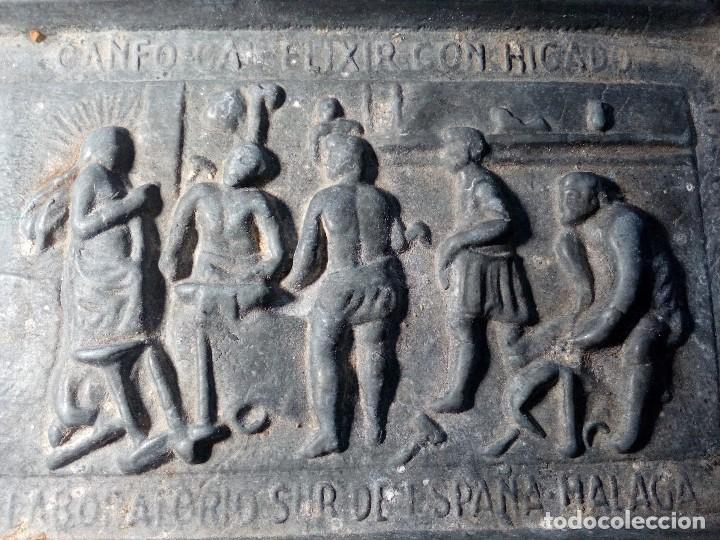 Antigüedades: CENICERO DE PLOMO LABORATORIO SUR DE ESPAÑA MÁLAGA (FRAGUA VULCANO / VELAZQUEZ) AÑOS 50 - Foto 2 - 151372658