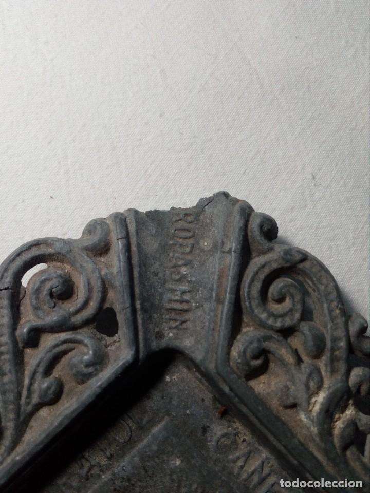 Antigüedades: CENICERO DE PLOMO LABORATORIO SUR DE ESPAÑA MÁLAGA (FRAGUA VULCANO / VELAZQUEZ) AÑOS 50 - Foto 8 - 151372658