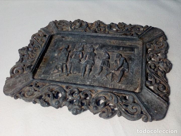 Antigüedades: CENICERO DE PLOMO LABORATORIO SUR DE ESPAÑA MÁLAGA (FRAGUA VULCANO / VELAZQUEZ) AÑOS 50 - Foto 11 - 151372658