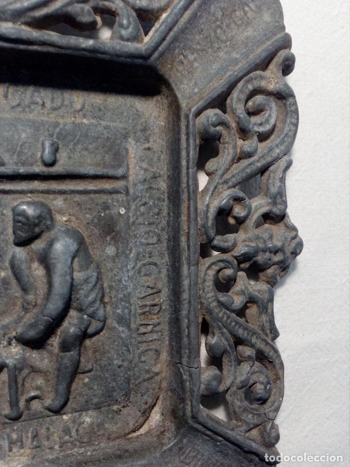 Antigüedades: CENICERO DE PLOMO LABORATORIO SUR DE ESPAÑA MÁLAGA (FRAGUA VULCANO / VELAZQUEZ) AÑOS 50 - Foto 13 - 151372658