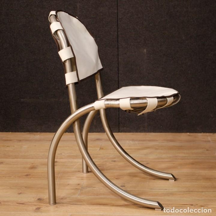 Antigüedades: Grupo de 4 sillas en design de Bazzani del siglo XX - Foto 2 - 151374718