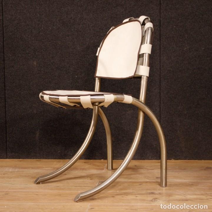 Antigüedades: Grupo de 4 sillas en design de Bazzani del siglo XX - Foto 5 - 151374718
