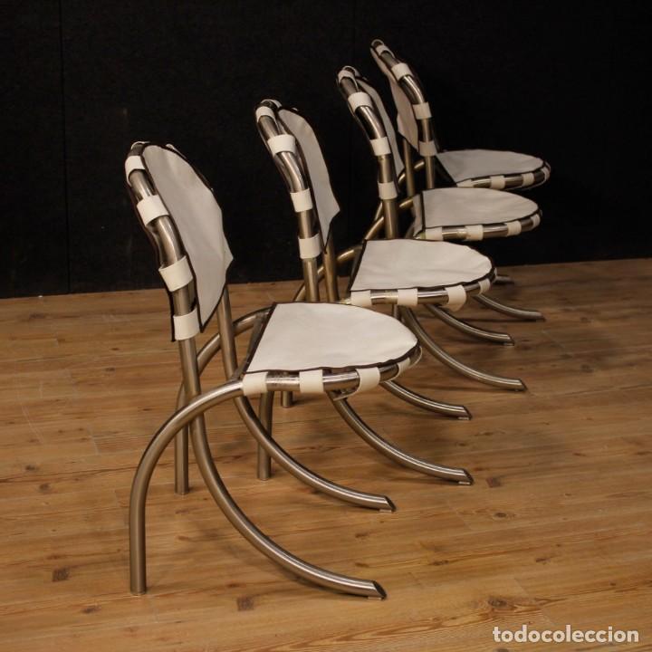 Antigüedades: Grupo de 4 sillas en design de Bazzani del siglo XX - Foto 8 - 151374718