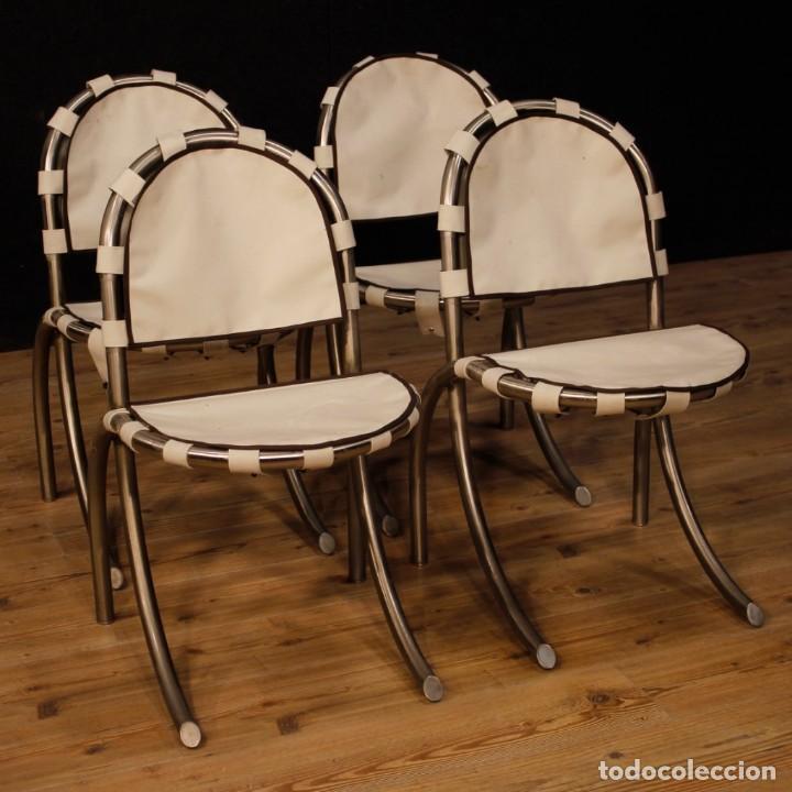 Antigüedades: Grupo de 4 sillas en design de Bazzani del siglo XX - Foto 12 - 151374718
