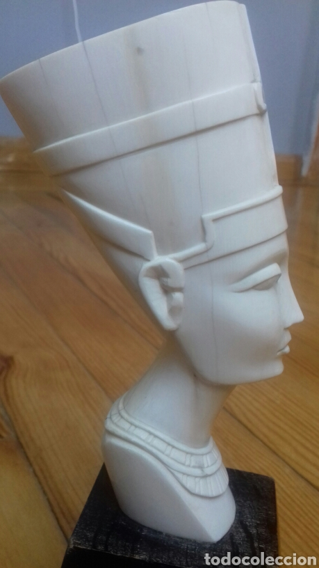 Antigüedades: Figura de marfil reina egipcia - Foto 2 - 151379592