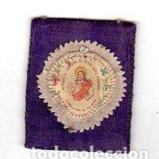 Antigüedades: ESCAPULARIO. CORAZON DE JESUS.. Lote 151380794
