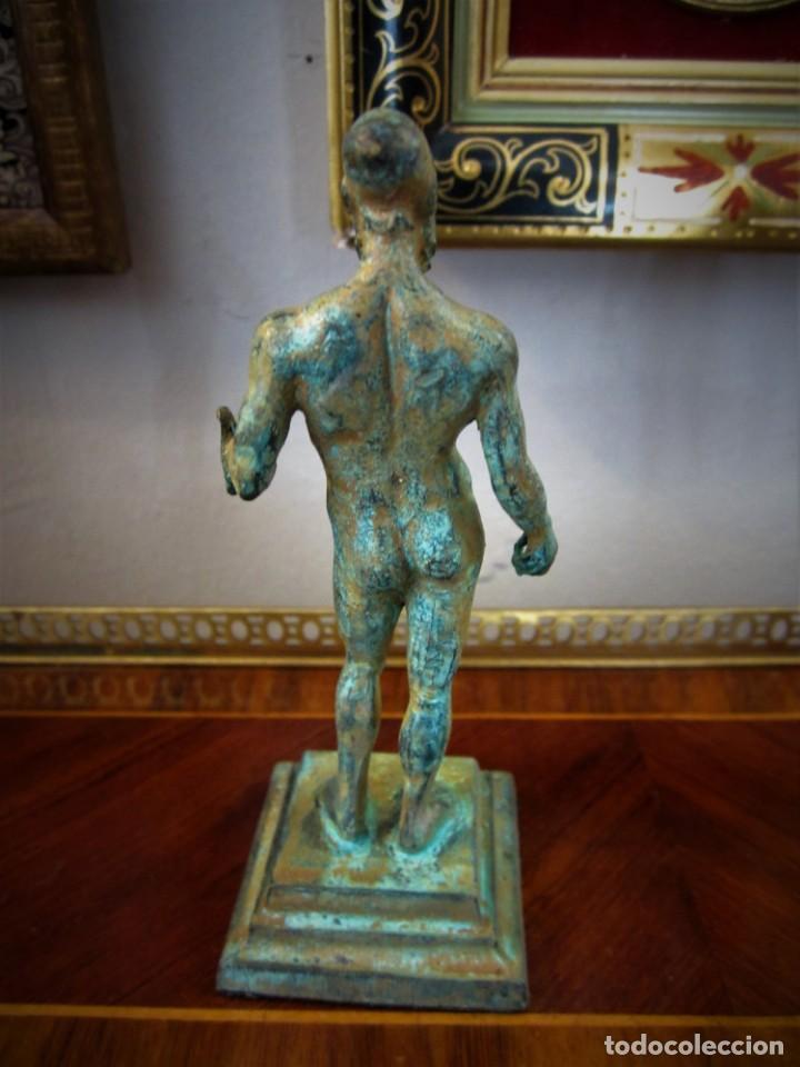 Antigüedades: PRECIOSAS FIGURAS GRIEGAS DE BRONCE - Foto 3 - 151381138