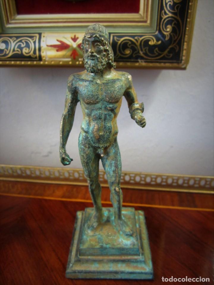 Antigüedades: PRECIOSAS FIGURAS GRIEGAS DE BRONCE - Foto 4 - 151381138
