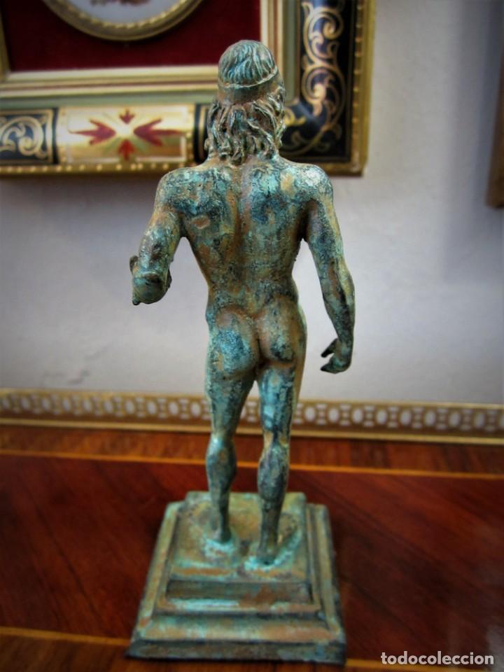 Antigüedades: PRECIOSAS FIGURAS GRIEGAS DE BRONCE - Foto 6 - 151381138