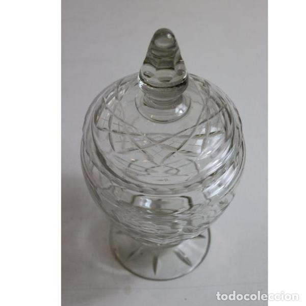 ANTIGUA BOMBONERA DE CRISTAL DE BOHEMIA (Antigüedades - Cristal y Vidrio - Bohemia)