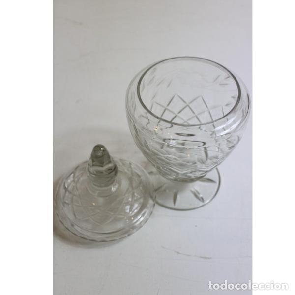 Antigüedades: Antigua bombonera de cristal de bohemia - Foto 4 - 151387898