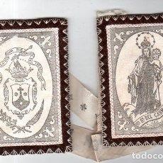 Antigüedades: ESCAPULARIO DE NUESTRA SEÑORA DEL CARMEN. MEDIDAS : 12 X 9 CM APROX.. Lote 151388666