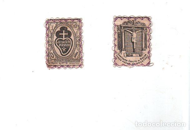 ESCAPULARIO. SANTISIMO CRISTO DE BIELVA. MEDIDAS : 6.5 X 4 CM APROX. (Antigüedades - Religiosas - Escapularios Antiguos)