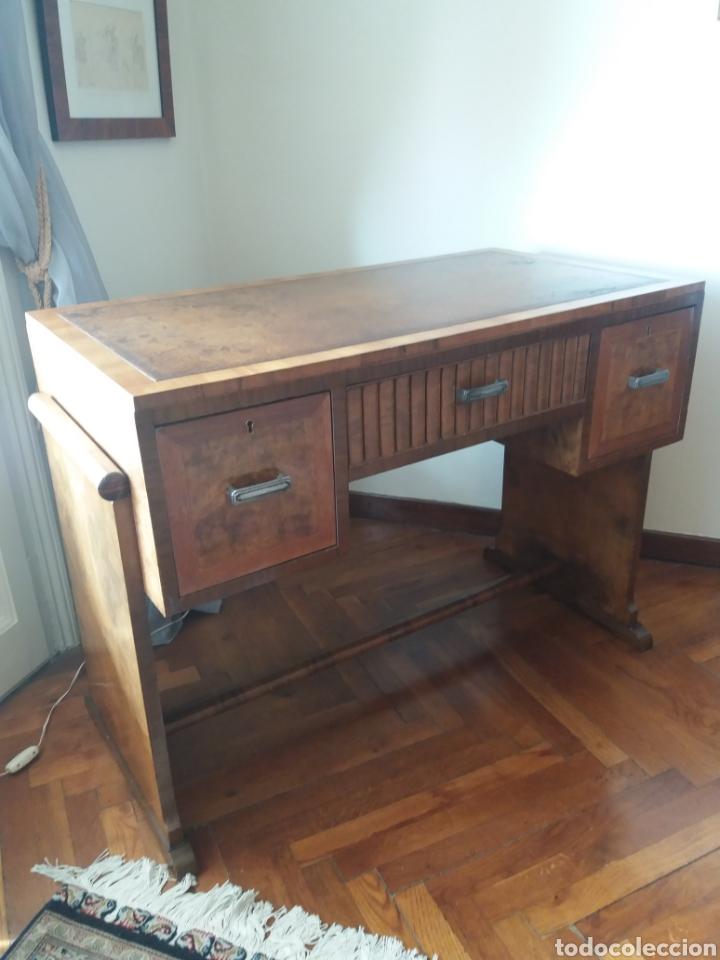 ESCRITORIO DECÓ AÑOS 30 (Antigüedades - Muebles Antiguos - Mesas de Despacho Antiguos)