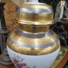 Antigüedades: PORCELANA DE LA CASA ULISES. AÑOS 70.ORO DE LEY Y PLATA. GRAN TAMAÑO. PERFECTO ESTADO. Lote 151425185