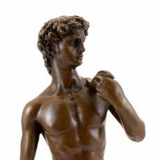 Antigüedades: EL DAVID DE MICHELANGELO EN BRONCE A CERA PERDIDA (41CM & 4,5KG). Lote 31771174