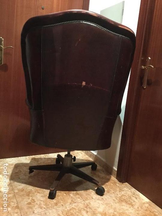 Antigüedades: Sillón de piel giratorio, basculante con ruedas majestuoso-ENVIÓ GRATIS A TODA LA PENÍNSULA - Foto 15 - 151455270