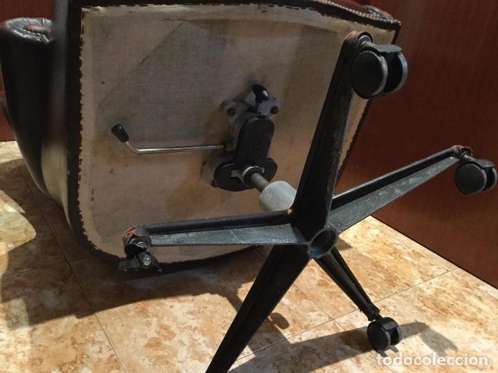 Antigüedades: Sillón de piel giratorio, basculante con ruedas majestuoso-ENVIÓ GRATIS A TODA LA PENÍNSULA - Foto 23 - 151455270