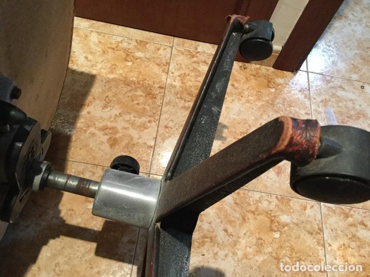 Antigüedades: Sillón de piel giratorio, basculante con ruedas majestuoso-ENVIÓ GRATIS A TODA LA PENÍNSULA - Foto 28 - 151455270